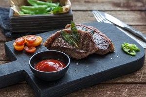 Meat Picanha steak, traditional