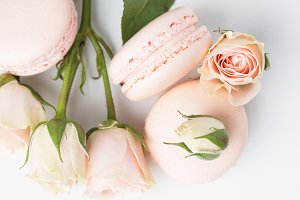 Sweet Pink Rose French Macarons