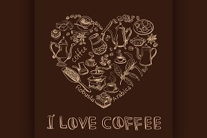 I love coffee concept