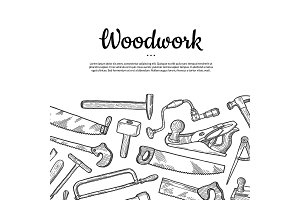 Vector carpentry background with