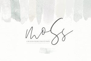 Moss - Watercolor Textures & Designs