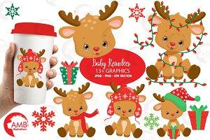 Baby Reindeer Clipart AMB-2288