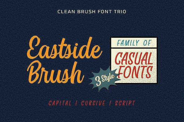 Display Fonts: Adam Fathony - Eastside Brush - Casual Font Trio