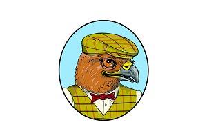 Outdoorsman Hawk Head Drawing