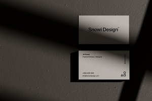 Shadow Business Card Mockup Pack