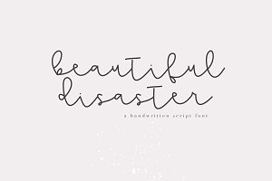 Beautiful Disaster - Script Font