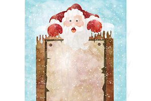 Christmas Santa Sign Greeting Card