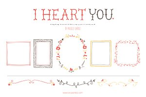 I Heart You (Clipart)