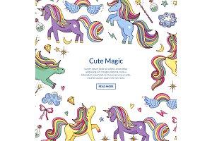 Vector cute hand drawn magic