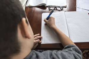 Child do his homework