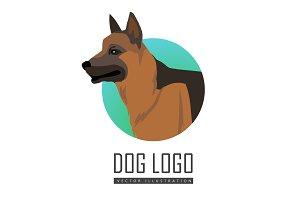 Shepherd Dog Logo on White