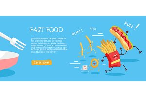 Fast Food Conceptual Flat Style