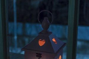 Heart shaped lantern