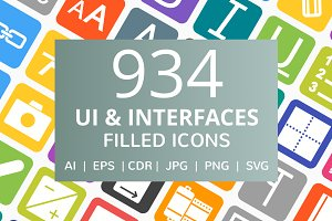 934 UI & Interfaces Filled Icons