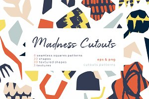 Madness cutouts. Patterns & shapes.