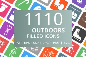1110 Outdoors Filled Icons