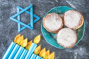 Jewish holiday Hanukkah and its attr