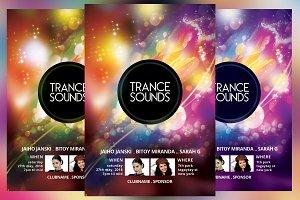 Trance Sounds Party Flyer
