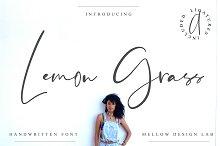 Lemon Grass Script by  in Script Fonts