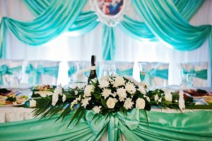 Fantastic wedding banquet table with