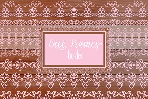 №278 Light pink Lacy Borders