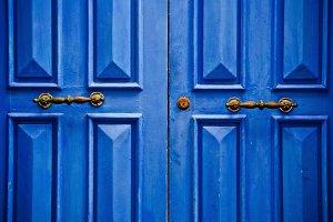 Arabic blue door