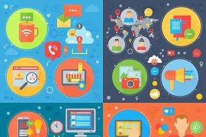 Social media strategy concepts.