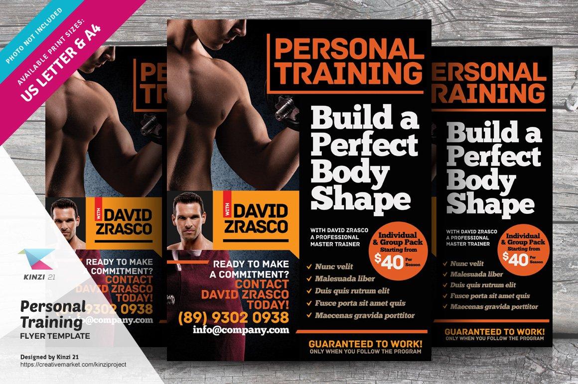 personal training flyer vol 01 flyer templates creative market