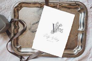 Vintage Tray Wedding Mock Up