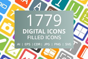 1779 Digital Filled Icons