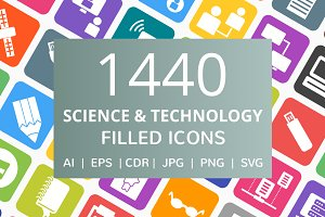1440 Science & Technology Icons
