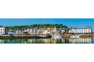 Panorama of the harbour of Honfleur