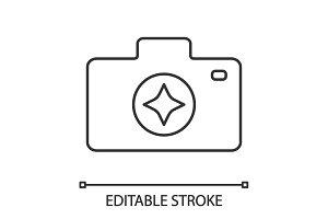 Camera enhance linear icon