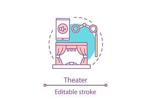 Theater concept icon