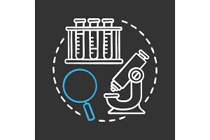 Science laboratory chalk icon