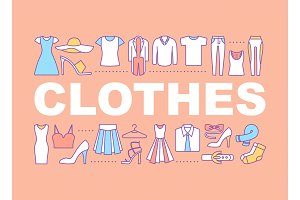 Clothes word concepts banner