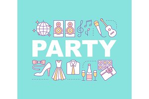 Party word concepts banner