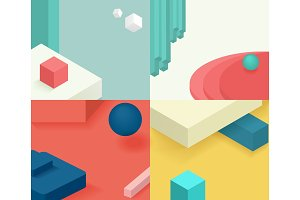 Isometric template cover design