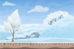 Beautiful winter game landscape