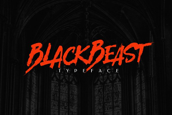 Display Fonts - BlackBeast Typeface