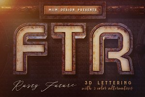 Rusty Future – 3D Lettering