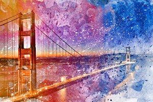 Golden Acrylic Bridge