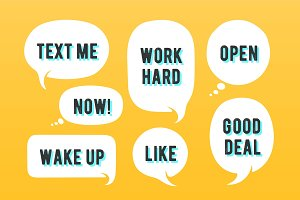 Speech bubbles. Set of message