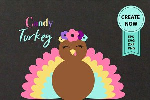 Turkey Clipart happy thanks giving