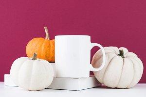 thanksgiving mug mock up