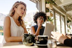Multi-ethnic businesswomen meeting