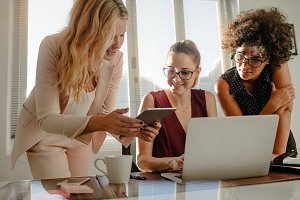 Group of businesswoman working