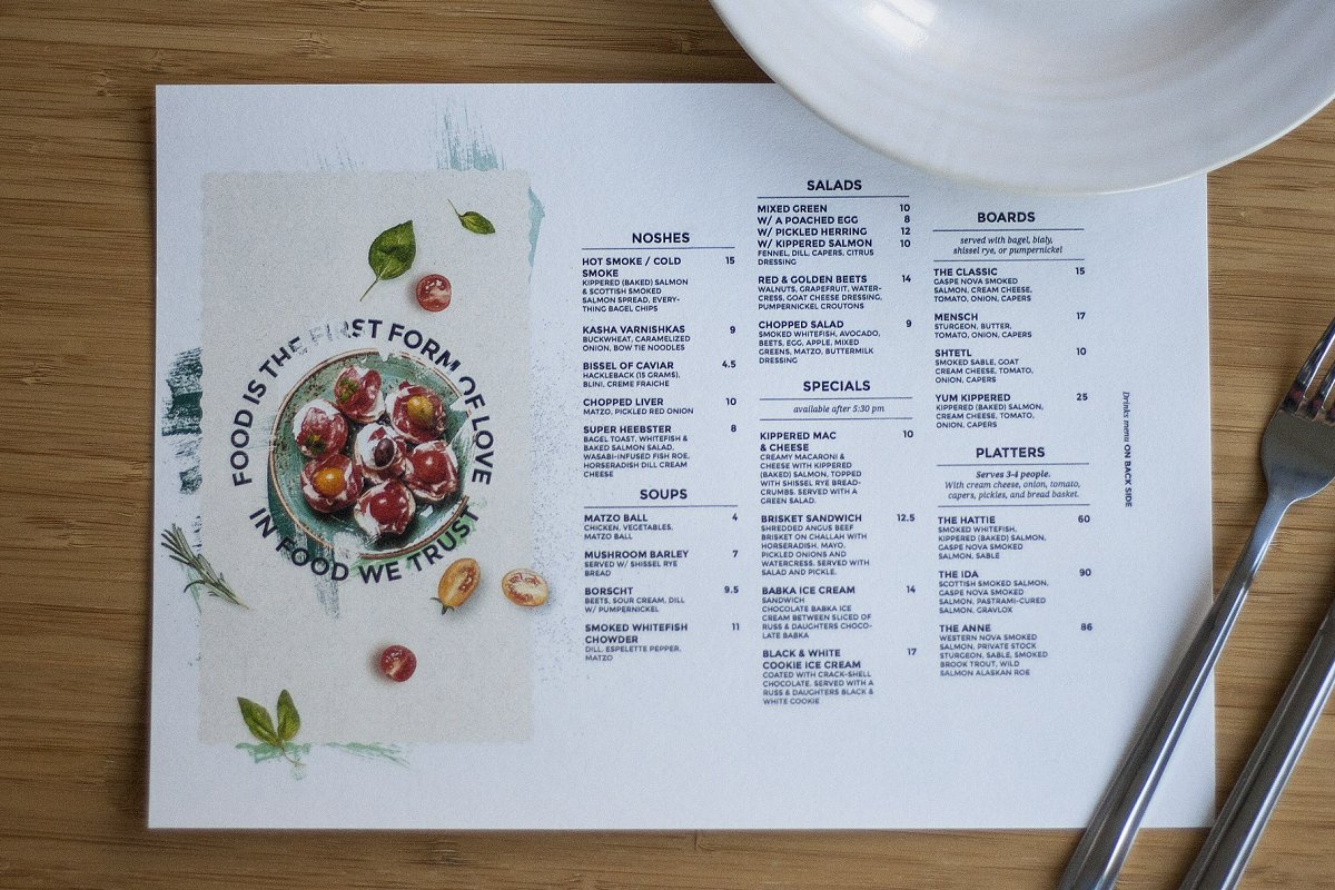 Restaurant Menu Creative Flyer Templates Creative Market