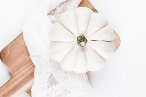 Simple White Pumpkin