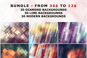 9 IN 1 Photoshop Backgrounds Bundle
